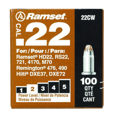 Ramset Powder Loads .22 Caliber 100 pk