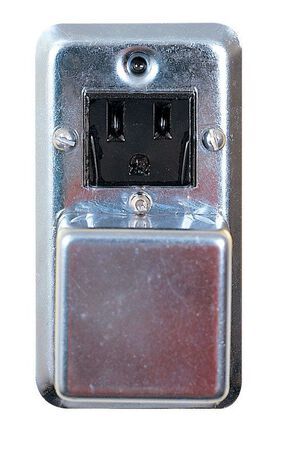Bussmann Electrical Receptacle 15 amps 125 volts Gray