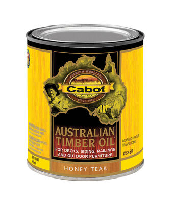 Cabot Oil-Based Australian Timber Oil Honey Teak 1 qt.