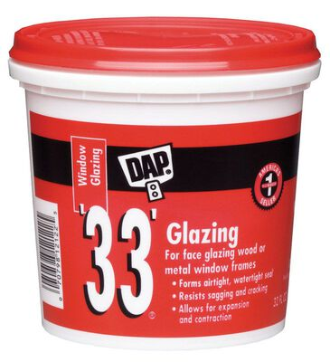 Dap 1 qt. Indoor and Outdoor White Glazing Compound