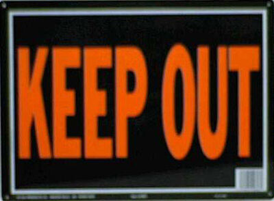 Hy-Ko English 10 in. H x 14 in. W Aluminum Sign Keep Out