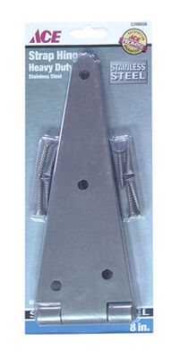 Ace Steel Heavy Duty Strap Hinge 8 in. L Stainless Steel 1 pk
