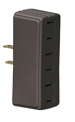 Ace Polarized Triple Outlet Adapter Brown 15 amps 125 volts 1 pk