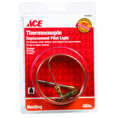 Ace Universal Thermocouple 24 volts 48 in. Copper