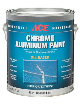 Ace Oil Based Chrome Aluminum Paint 1 gal. Metallic