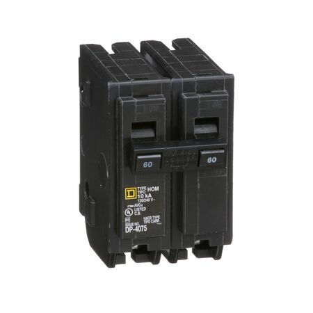 Square D HomeLine Double Pole 60 amps Circuit Breaker