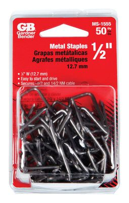 GB 1/2 in. W Zinc-plated Metal Insulated Cable Staple 50
