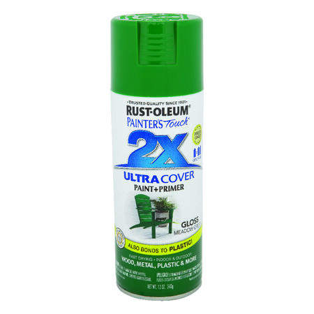Rust-Oleum Painter's Touch 2X Ultra Cover Gloss Meadow Green Spray Paint 12 oz.