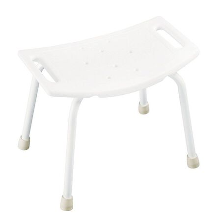 Delta White Plastic Tub Bench 13 in. L x 19 in. H