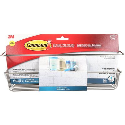 3M COMMAND Large ADHESIVE STRIPS Holder 12-3/4 in. L 6.5 lb. 1 pk