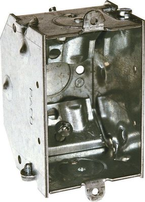 Raco 3-9/16 in. H Rectangle 1 Gang Switch Box 1/2 in. Gray Steel