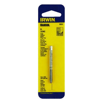 Irwin Hanson High Carbon Steel 8-32NC SAE Plug Tap 1