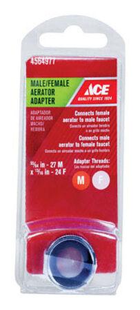 Ace Aerator Adapter 55/64in. -27M in. x 13/16in. - 24F in. Chrome