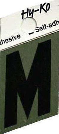 Hy-Ko Self-Adhesive Black 1-1/2 in. Aluminum Letter M