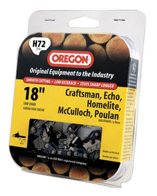 Oregon Chainsaw Chain 72 links 18 in. For Craftsman Echo Homelite McCulloch Poulan 33 SL
