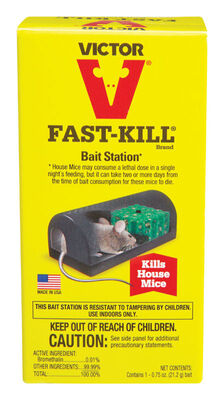 Victor Fast-Kill Small Refillable Bait Bait Station For Mice
