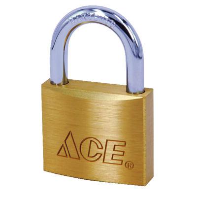Ace 1-1/8 in. Double Locking Brass Padlock