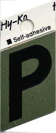 Hy-Ko Self-Adhesive Black 1-1/2 in. Aluminum Letter P