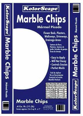KolorScape White Decorative Stone Marble Chips 0.4 cu. ft. 42 lb.
