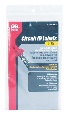 GB Industrial Circuit Breaker Panel Marker 1 Vinyl