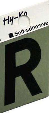 Hy-Ko Self-Adhesive Black 1-1/2 in. Aluminum Letter R
