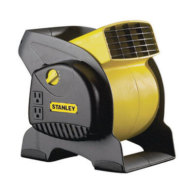 Stanley Blower Fan 12-1/4 in. H x 12-3/16 in. L x 9-5/8 in. W 3 speed AC Yellow