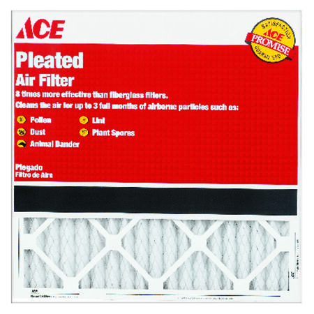 Ace 30 in. L x 14 in. W x 1 in. D Pleated Air Filter 8 MERV