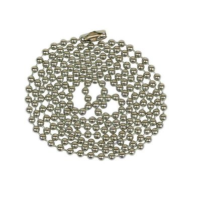 Jandorf Beaded Chain Nickel Plated 3 ft. L 1 pk