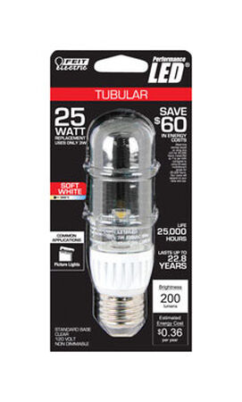 FEIT Electric LED Light Bulb 4.5 watts 400 lumens Tubular T10 5.4 in. L Clear 1 pk