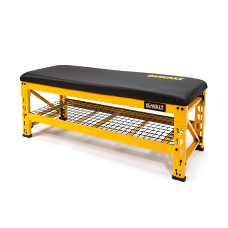 Dewalt 50 in. Garage bench with wire grid storage shelf