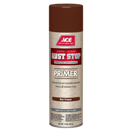 Ace Rust Stop Interior and Exterior Primer 15 oz. Red