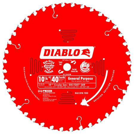 Freud Diablo 10-1/4 in. Dia. 40 teeth Carbide Tip Circular Saw Blade For Large Capacity Beam Pos