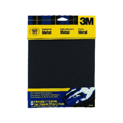 3M Emery Cloth Sandpaper 11 in. L Assorted 3 pk