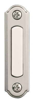 Heath Zenith Satin Nickel Wired Pushbutton Doorbell