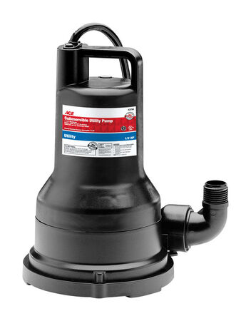 Ace Thermoplastic Utility Pump 1/2 hp 2 500 gph