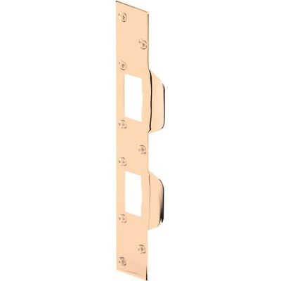 Prime-Line Maximum Security Combination Strike 3-5/8 in. 1-5/8 in. X 11 in. Brass Plated Steel