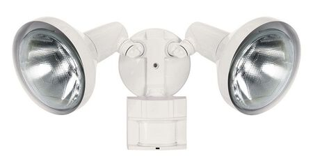 Heath Zenith Floodlight Metal White Motion-Sensing PAR 38 300 watts