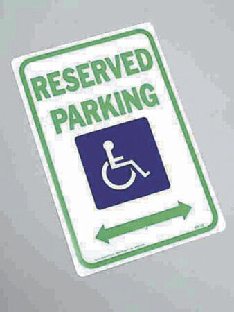Hy-Ko English 18 in. H x 12 in. W Aluminum Sign Handicapped Reserved Parking