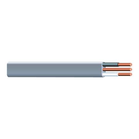 Southwire 25 ft. 12/2 Type UF-B WG Underground Feeder Cable Gray