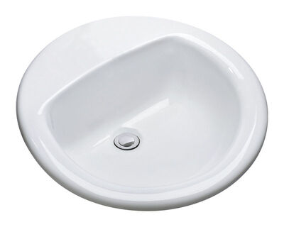 Mansfield MS Round 19-1/4 in. Self-Rimming Lavatory Sink White