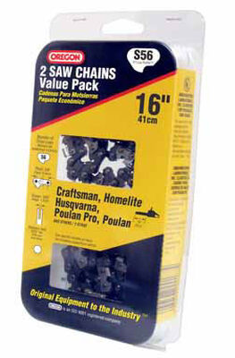 Oregon Value Pack Chainsaw Chain 56 links 16 in. For Craftsman Homelite Husqvarna Poulan 91 Lo