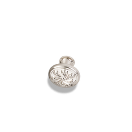 "1-3/16"" Diameter Teardrop Cabinet Knob Satin Nickel"