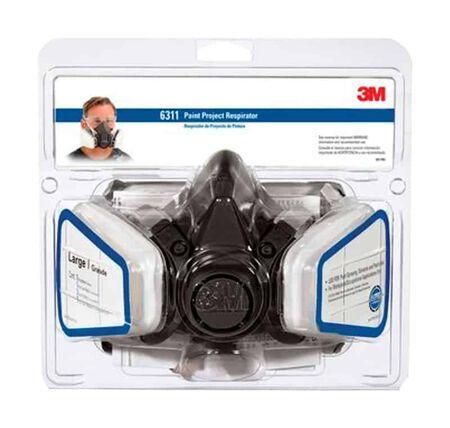 3M P95 Paint Project Half Face Respirator 6000-Series Valved Black L 1 pk