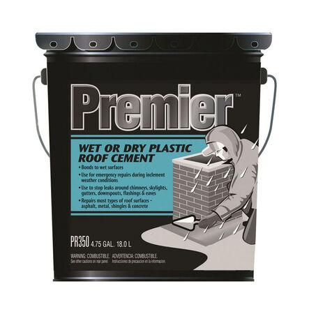 Premier Asphalt Wet/Dry Surface Roof Cement 4.75 gal. Black