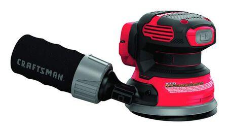 Craftsman 20V MAX 5 in. Cordless Random Orbit Sander Bare Tool 20 volt 12000 opm Red (Bare Tool)