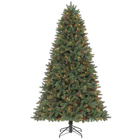 Celebrations 7-1/2 ft. Multicolored Prelit Grand Fir Artificial Tree 1000 lights