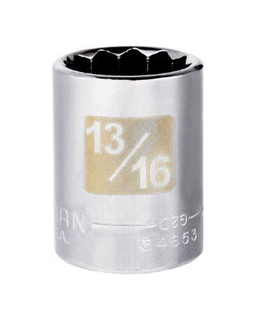 Craftsman 13/16 Alloy Steel Standard Socket 1/2 in. Drive in. drive