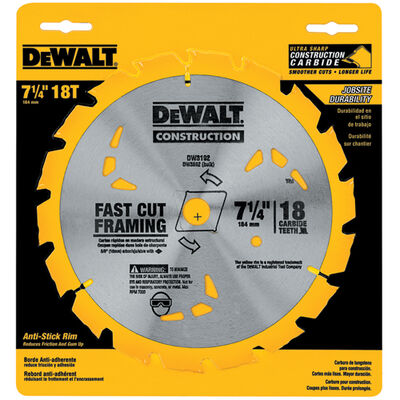 "7-1/4"" 18T Carbide Thin Kerf Circular Saw Blade"