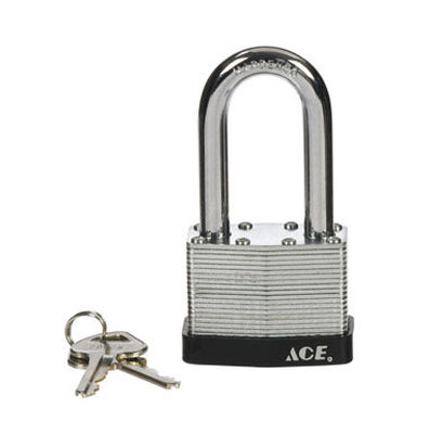 Ace 2 in. Double Locking Steel Padlock