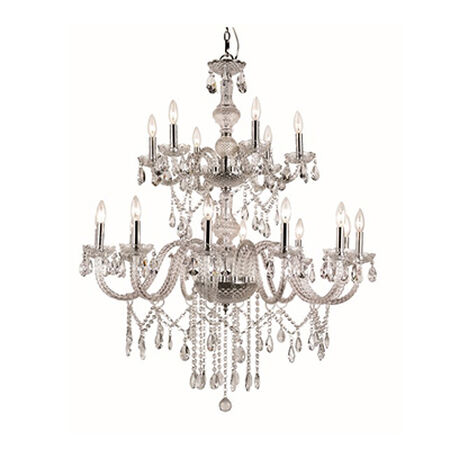 "Zircon 36.5"" Chandelier 18 Light"
